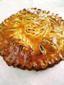 Пирог с яблоками и брусникой - Фото