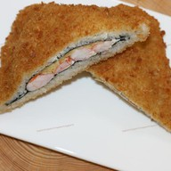 Суши сэндвич с креветкой Фото