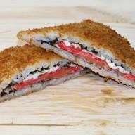 Суши сэндвич с лососем Фото