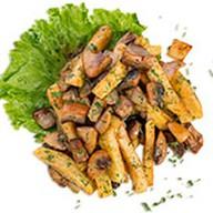 Жареные грибы с картофелем Фото