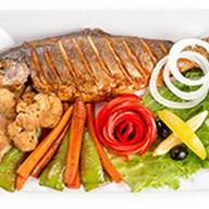 Ишхан с овощным сотэ Фото