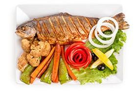 Ишхан с овощным сотэ - Фото