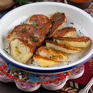 Картофель печеный на углях Фото