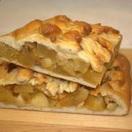 Пирог с яблоком и грушей Фото
