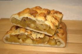 Пирог с яблоком и грушей - Фото
