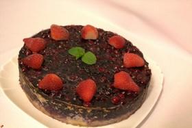 Тарт песочный с творогом и ягодами - Фото
