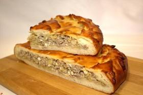 Пирог мясной с капустой - Фото