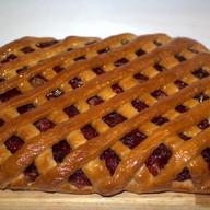Пирог яблоком и клюквой Фото