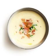 Сырный суп с беконом Фото