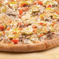 Чизбургер пицца Фото