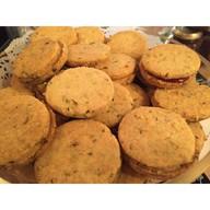 Печенье с розмарином и малиной Фото