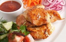 Шашлык из филе куриного - Фото