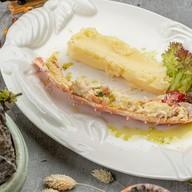 Фаланга краба с картофельным пюре Фото