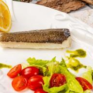 Филе палтуса со свежими овощами Фото