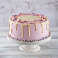 Торт сливочно-черничный Фото