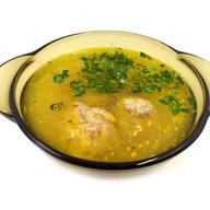 Суп лапша с фрикадельками Фото