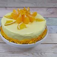 Торт блинный творожно-апельсиновый Фото