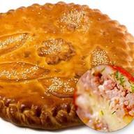 Пирог с мясом и грибами Фото