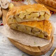 С картофелем,грибами(сметанно-дрожжевой) Фото