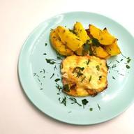 Картофель запеченный с горбушей Фото