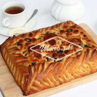 Пирог с картофелем, сыром и грибами Фото