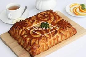 Пирог с кетой и брокколи - Фото