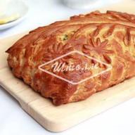 Пирог с тремя сырами и шпинатом Фото