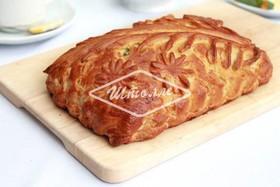 Пирог с тремя сырами и шпинатом - Фото