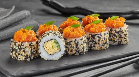 Тартар ролл с лососем - Фото