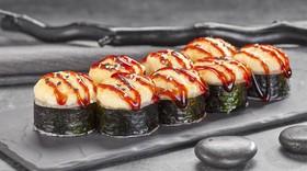Запеченный ролл с острым лососем - Фото