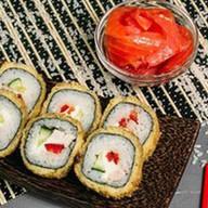 Ролл с лососем (в кляре) Фото