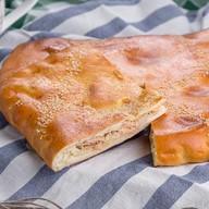 Пирог с семгой и горбушей Фото