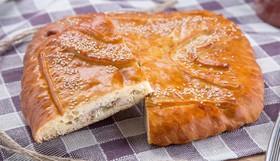 Пирог с горбушей и рисом - Фото