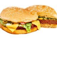 Бургер с мраморной говядиной Фото