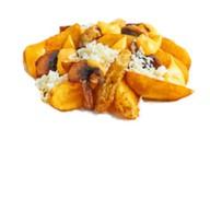 Картофельные дольки с грибами,моцареллой Фото