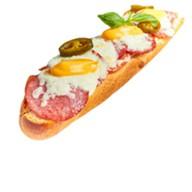 Горячий сэндвич с пепперони Фото