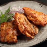 Шашлык из курицы с запеченным картофелем Фото