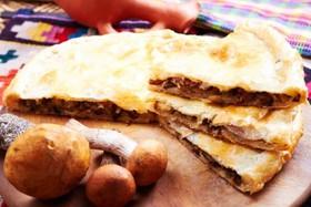Картофельно-грибной пирог - Фото