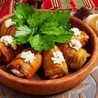 Рулеты из баклажанов с сырной начинкой Фото