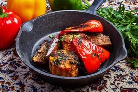 Печеные овощи под фирменным маринадом - Фото