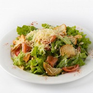 Цезарь с лососем салат Фото
