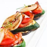 Овощи гриль в соусе тонкацу Фото