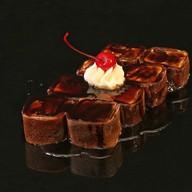 Шоколадный ролл в блинчике Фото