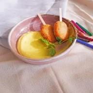 Куриное эскимо,картофельно-сырный крем Фото