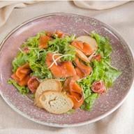 Цезарь сёмга салат Фото