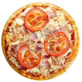 Пицца с курицей и беконом - Фото