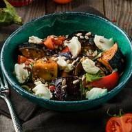 Салат с баклажаном фри (обед) Фото