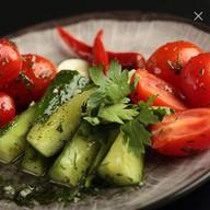 Огурцы и томаты быстрого посола Фото