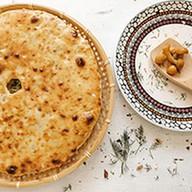 Пирог с фаршем, картофелем и грибами Фото