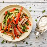 Говядина с овощами салат Фото